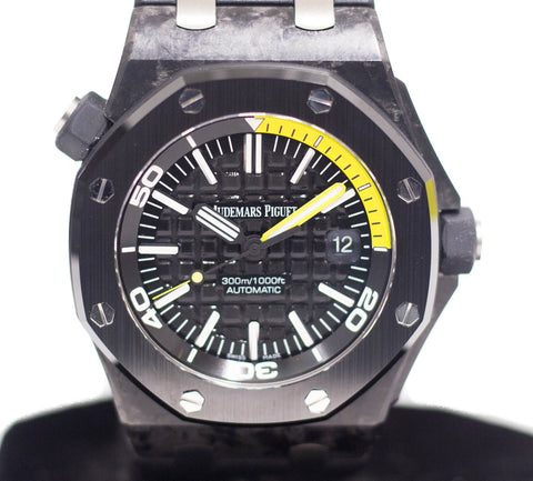 Preowned Audemars Piguet Royal Oak Offshore Diver Forged Carbon Ref: 15706AU.00.A002CA.01