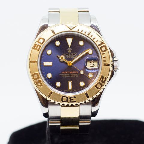 Preowned Rolex Yachtmaster Boy Size in Half Gold 168623