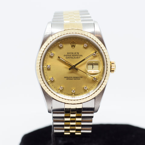 Preowned Rolex Datejust in Half Gold 16233