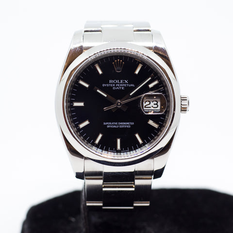 Preowned Rolex Oyster Perpetual Date 115200