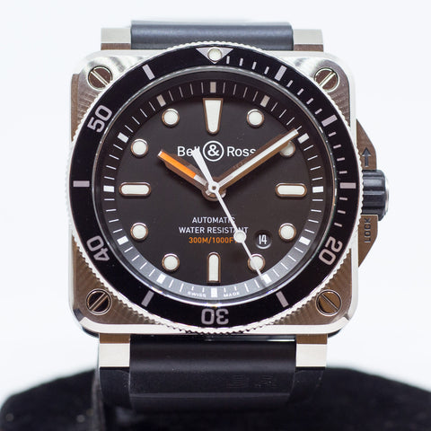 Preowned Bell & Ross Diver Black dial BR 03-92