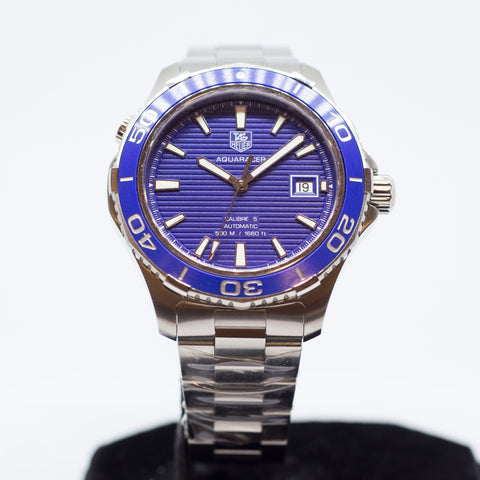 Brand New Tag Heuer Aquaracer 500M Ceramic Blue