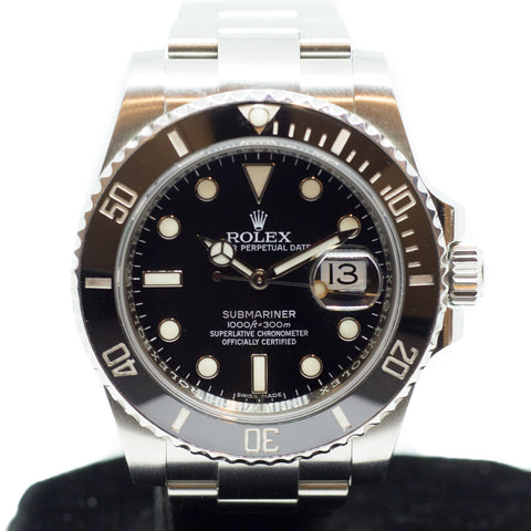 Preowned Rolex Submariner Ceramic with Date 116610LN