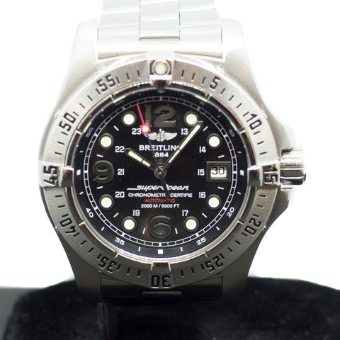 Preowned Breitling Superocean Steel Fish Ref: A17390