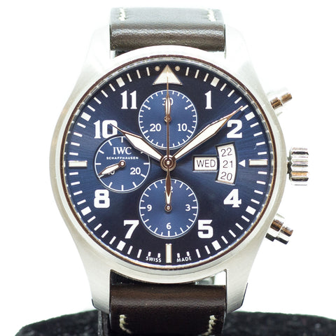 "Preowned IWC Pilot Chronograph ""Le Petit Prince"" IW3777-06"