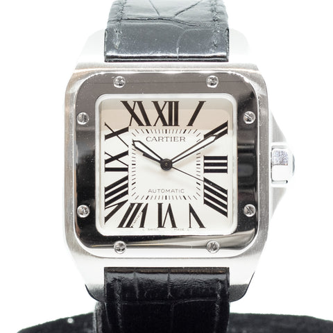 Preowned Cartier Santos 100 Large Ref. W20073X8