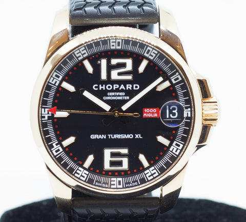 Preowned Chopard Mille Miglia GT XL in Rose Gold Ref: 12/1264