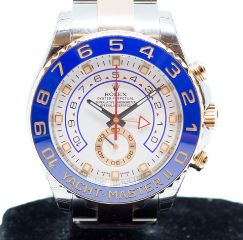 Brand New Rolex Yachtmaster II in Half Gold 116681