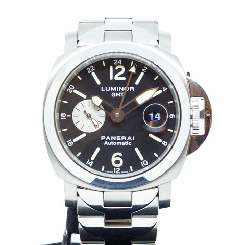 PreOwned Panerai Luminor GMT w/ Steel/Titanium Bracelet PAM 161 G