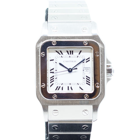 Preowned Cartier Santos Galbee in Steel Ref: 2319