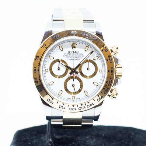 Like New Rolex Cosmograph Daytona in 18k Yellow Gold/Steel Ref: 116503