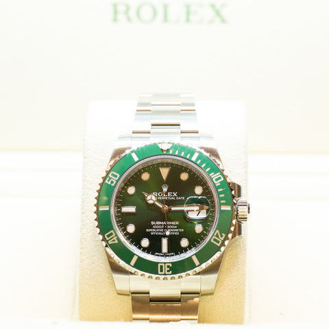 "Brand New Rolex Submariner Ceramic Date ""Hulk"" Ref:116610LV"