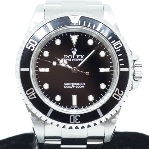 Preowned Rolex Submariner in Stainless Steel Ref: 14060