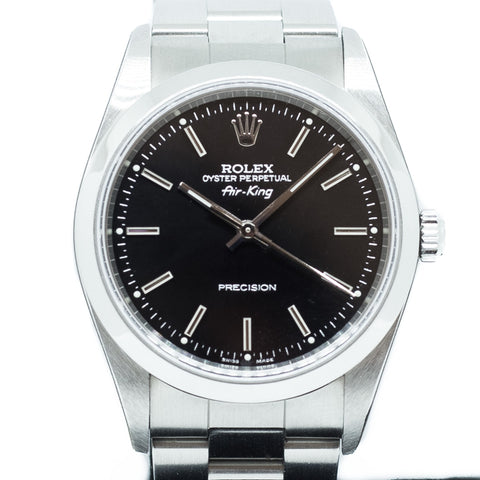 New Old Stock Rolex Oyster Perpetual Air King 34mm Ref: 14000