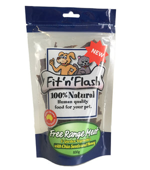 NEW FLAVOUR! Fit'N'Flash Free Range Meat with Garden Vegetables, Chia Seeds and Honey