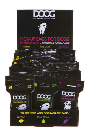 DOOG Tidy Bag Refill Packs, Lemon Singles