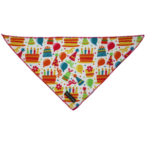Big & Little Dogs Birthday Cake Bandana