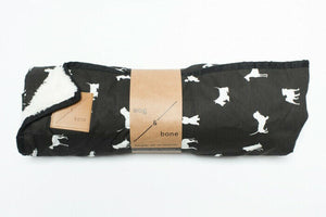 Mog and Bone Luxury Blanket - Black Dog