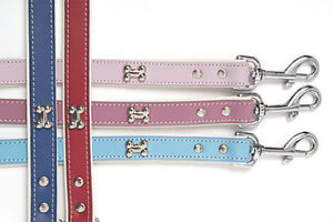 DOGUE Bones Leather Dog Lead