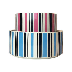 Dogue Candy Stripe Ceramic Pet Bowl