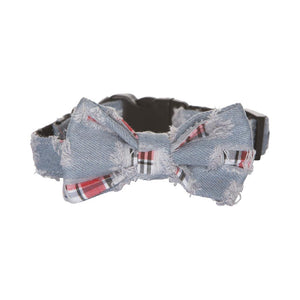 Hamish McBeth Bowtie Dog Collar - Denim