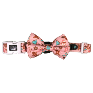 Big & Little Dogs Dog Collar & Bow Tie - Christmas Cookies