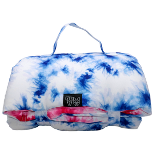 Big & Little Dogs - On The Go Pet Mat - Blue & Pink Tie Dye