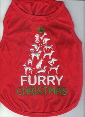 Dog Bless You - Furry Christmas Singlet