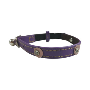 Hamish McBeth Cat Collar - Moet Purple - Diamante