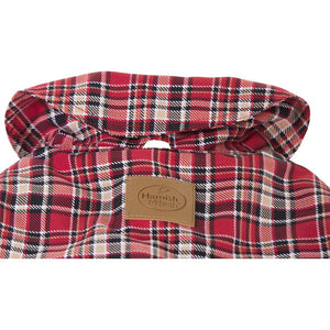 Hamish McBeth All Weather Waterproof Dog Coat - Tartan Red