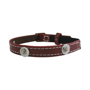 Hamish McBeth Cat Collar - Moet Red - Diamante