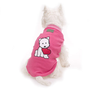 Hamish McBeth Pink Heart Puppy Dog Pyjamas