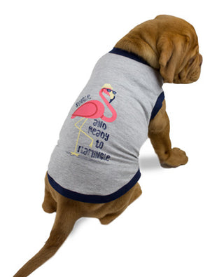 Huskimo Doggie T-Shirt - Flamingo