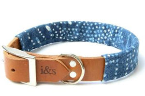 Ike & Stella Dog Collar - Indigo Dyed