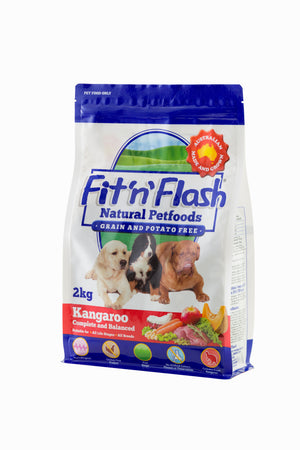 Fit'n'Flash Natural Dry Dog Food  - Kangaroo (Grain & Potato Free) 2kg