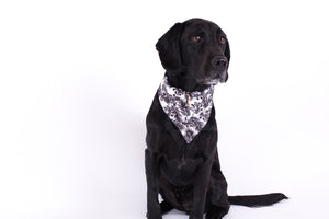 Mog and Bone Black Tropical Leaves Bandana