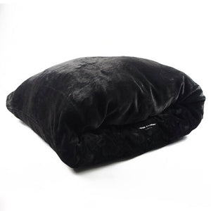 Miyow & Barkley Snuggle Pod Cat and Dog Bed - Black Panther Faux Fur