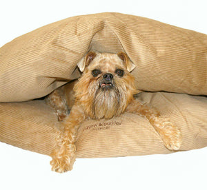 Miyow & Barkley Snuggle Pod Cat and Dog Bed - Cord - Latte Beige