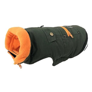 Huskimo Mt Buller Dog Parka Coat - Khaki