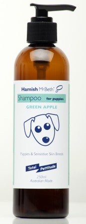 Hamish McBeth All Natural Shampoo - Puppies & Sensitive Skins - Green Apple Fragrance