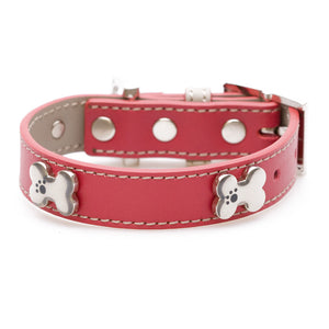 Hamish McBeth Bones Bling Dog Collar - Red