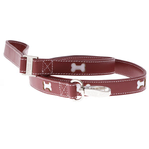 Hamish McBeth Bones Dog Lead - Red