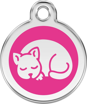 Red Dingo Enamel ID Tag - Cat