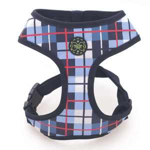 Hamish McBeth Houndstooth Freedom Harness - Blue Tartan
