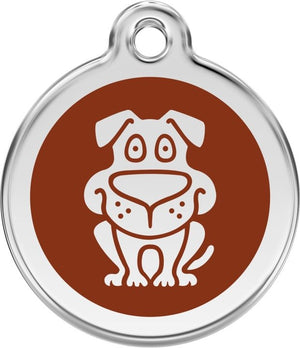 Red Dingo Enamel ID Tag - Dog