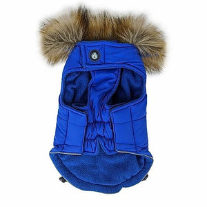Huskimo Everest Dog Parka Coat - Royal Blue