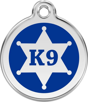 Red Dingo Enamel ID Tag - K9 Sheriff