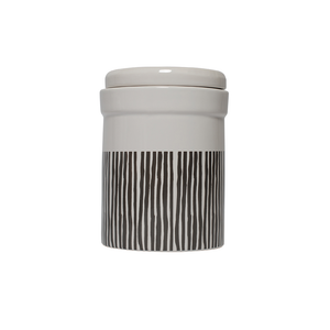 Mog and Bone Ceramic Food Canister - Mocca Stripe