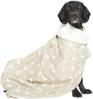 Mog and Bone Luxury Blanket - Oatmeal Dog