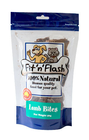 Fit'N'Flash Lamb Bite Treats